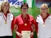 1304 Nach 14 Jahren wieder Gold für den BSC Rüsselsheim vl Claudia Fink Irene Dotzel und Petra Stolz.